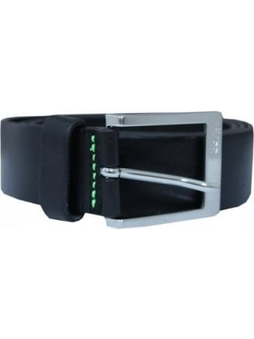 HUGO BOSS - BOSS Green Tex Leather Belt - Black