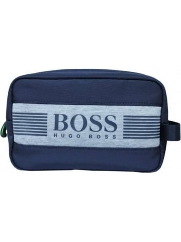 HUGO BOSS - BOSS Green Pixel Washbag - Navy