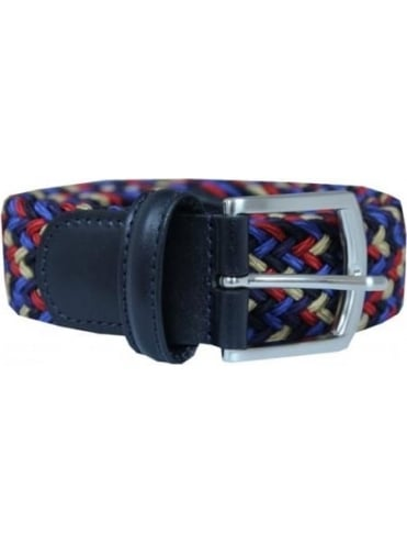 Anderson's Woven Textile Belt - Red And Navy