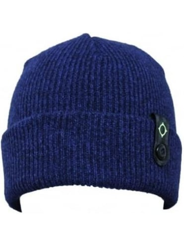 MA.STRUM Detachable ID Beanie - Dress Blue