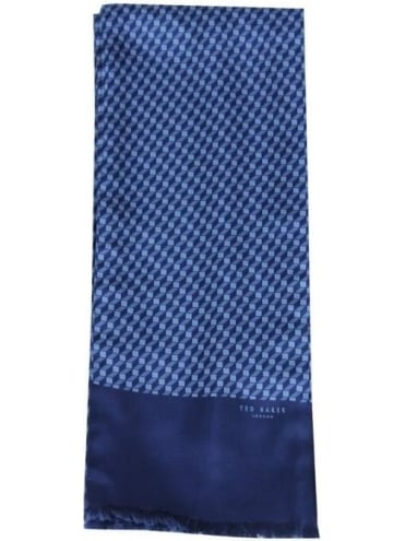 Ted Baker Geoblock Cube Print Scarf - Navy