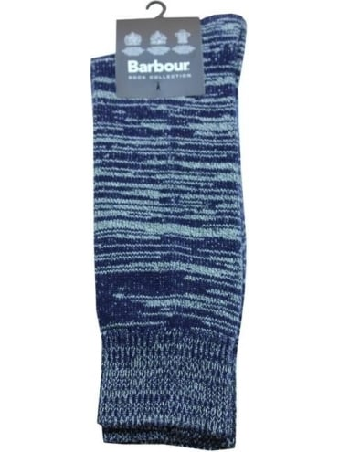 Barbour North Sea Socks - Navy
