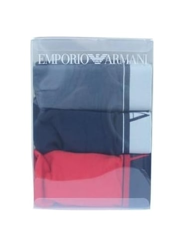 Emporio Armani Triple Pack Boxer Shirts - Red