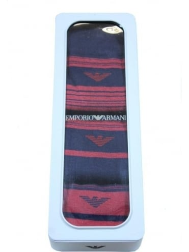 Emporio Armani Horizontal Stripe 3 Pack Socks - Navy
