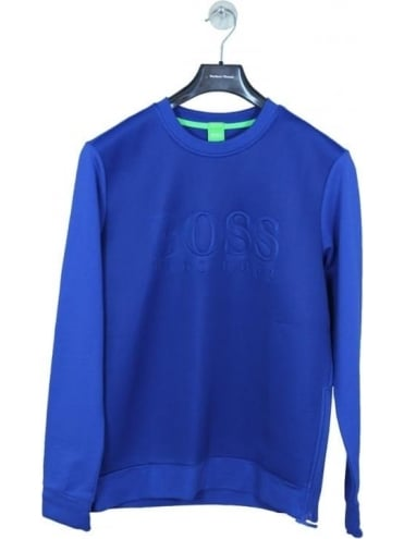 - BOSS Green Salbon Sweat - Open Blue