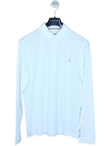 Farah Merriweather L/S Polo - White