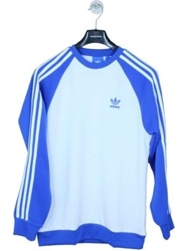 adidas Originals SST Crew - White/Blue
