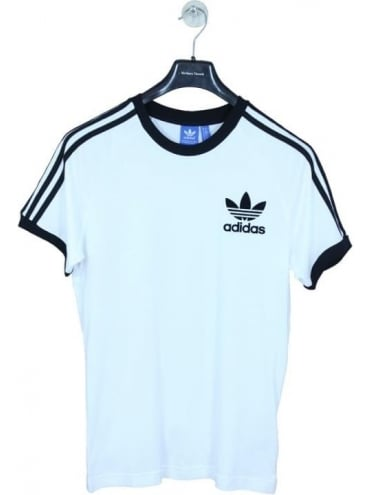 adidas Originals CLFN T Shirt - White/Black