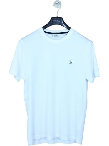 Penguin Pin Point Embroidered T Shirt - Bright White