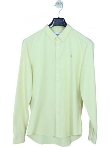 Farah Brewer Slim L/S Shirt - Pastel Yellow