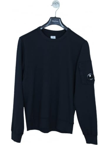 CP Company Arm Lens Crew Neck Sweat - Navy