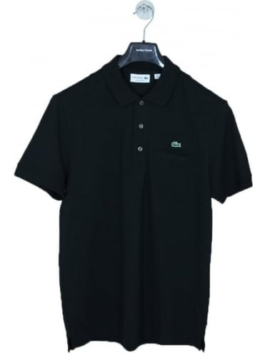 Lacoste Embroidered Pocket Polo - Black