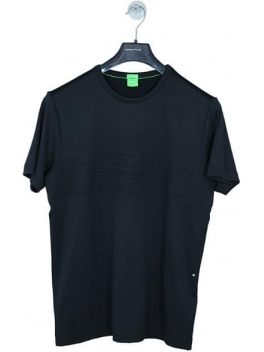 - BOSS Green - Embossed Logo Tee 9 - Black