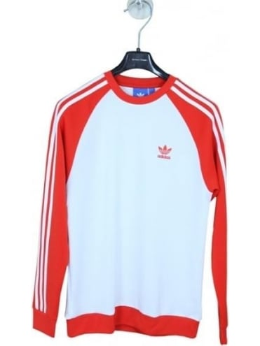 adidas Originals Adidas SST Crew - Red And White