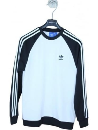 adidas Originals SST Crew - White And Black