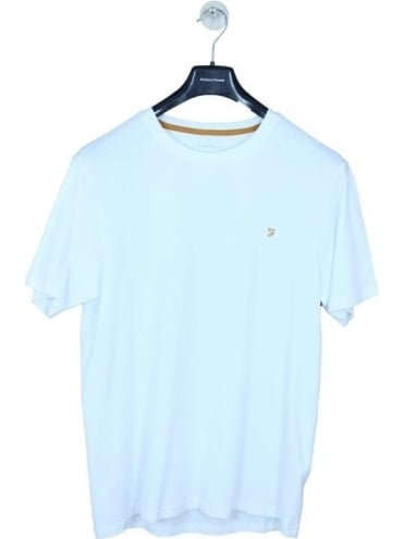 Farah Denny Slim Solid T-Shirt - White