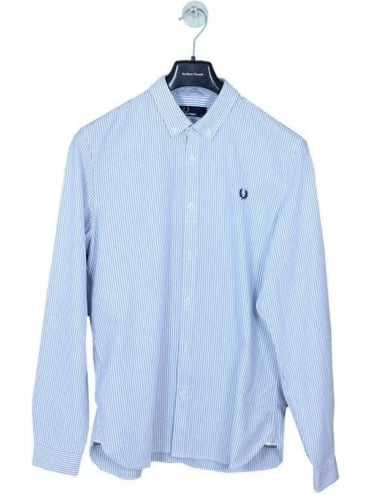 Fred Perry Oxford Pinstripe Shirt - Royal Blue