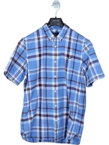 Fred Perry Bold Check Shirt - Glacier