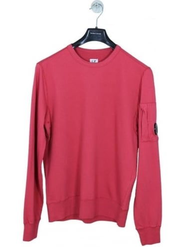 CP Company Arm Lens Crew Neck Sweat - Red