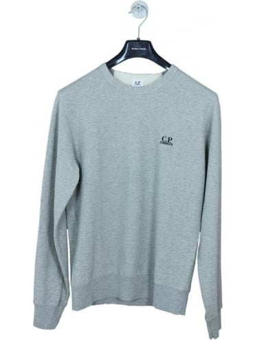 CP Company Crew Neck Logo Sweat - Grey