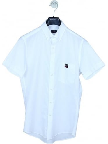 Paul and Shark Fit Oxford Shirt - White