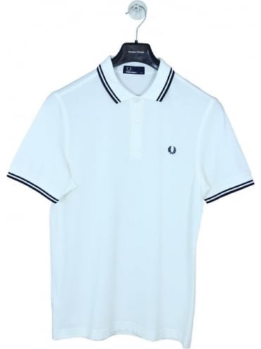 Fred Perry M3600 Classic Tipped Polo - Snow White