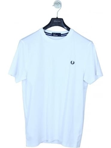 Fred Perry Crew Neck Logo T.Shirt - White