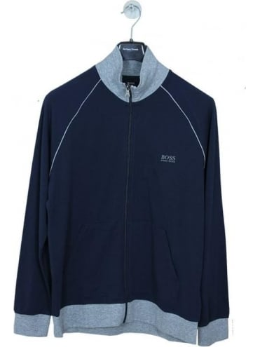 - BOSS Hugo Boss - Contrast Funnel Zip Sweat - Dark Blue