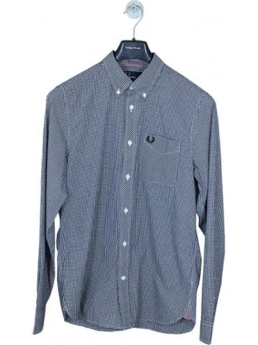Fred Perry Classic Gingham Shirt - Black