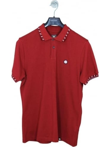 Pretty Green Elmwood Polo - Dark Red