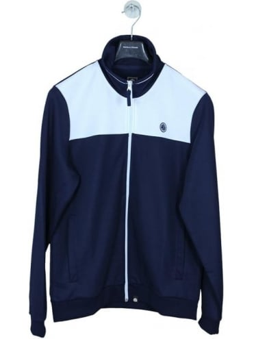 Pretty Green Edzell Track Top - Navy and White