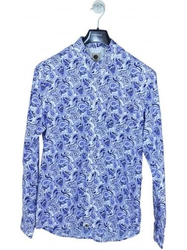 Pretty Green Caversham Paisley Shirt - White