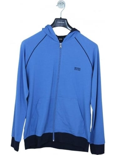 - BOSS Hugo Boss Hooded Logo Zip Sweat - Blue