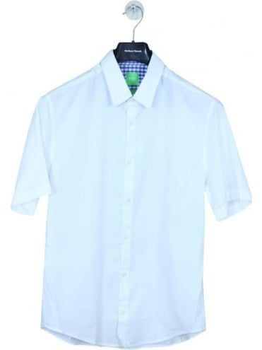 HUGO BOSS  - BOSS Green C-Busterino Shirt - White