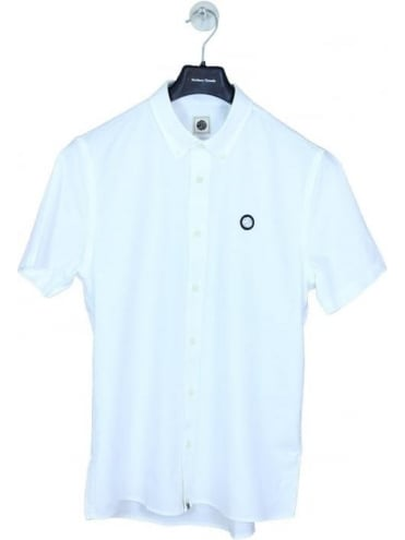 Pretty Green Oldbury S/S Oxford Shirt - White