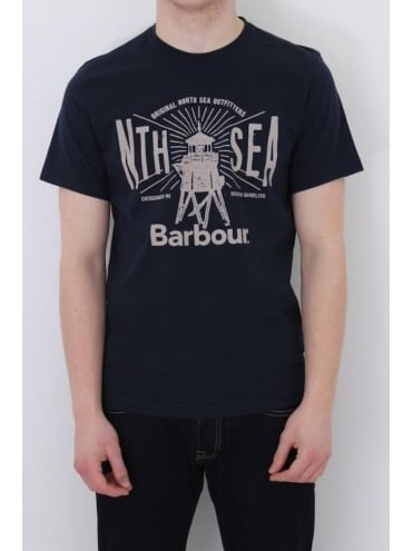 Barbour North Sea T.Shirt - Navy