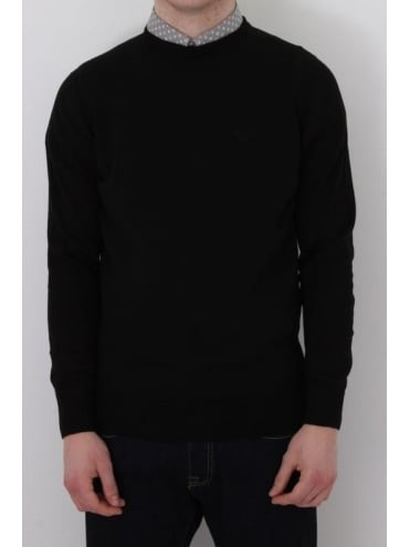 Barbour Pima Cotton Crew Neck Knit - Black