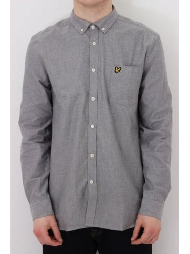 Lyle and Scott Twill Mouline Shirt - Grey Marle