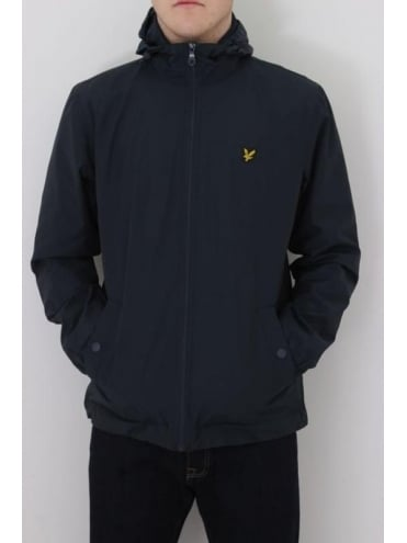 Lyle and Scott Zip Through Hooded Jacket - Navy