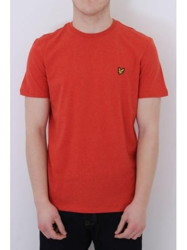 Lyle and Scott Classic Crew Neck T.Shirt - Flame