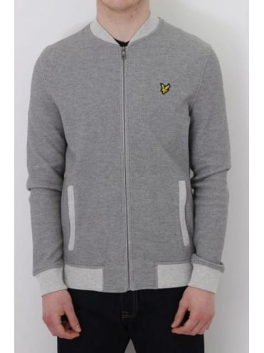 Lyle and Scott Pique Bomber - Mid Grey