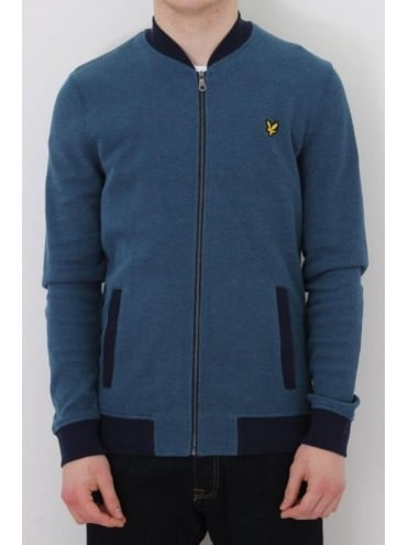 Lyle and Scott Pique Bomber - Navy