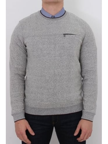 Ted Baker Malibo Crew Neck Knit - Grey