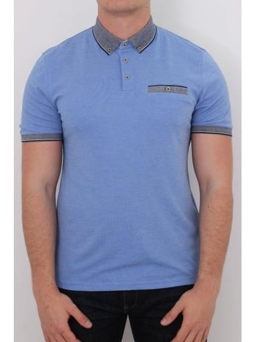 Ted Baker Shapiro Knitted Oxford Polo - Blue