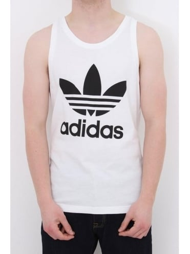 adidas Originals Trefoil Tank - White