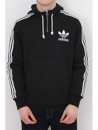 adidas Originals AC Terry Hooded Sweat - Black