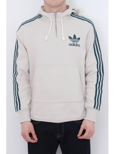 adidas Originals AC Terry Hooded Sweat - Brown