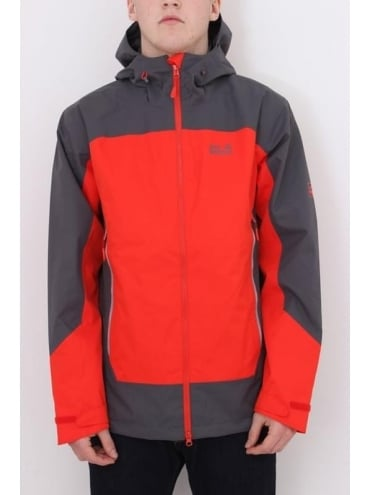 Jack Wolfskin North Slope Texapore Jacket - Red