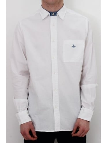 Vivienne Westwood Anglomania Detachable Collar Shirt - White