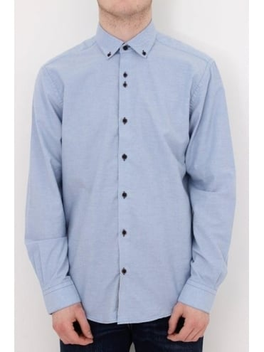Remus Uomo Parker Tapered Shirt - Blue Light